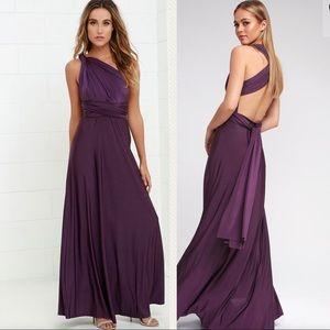 Lulus Always stunning Convertible purple dress